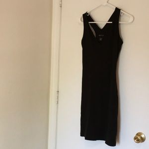 Racer-back black dress